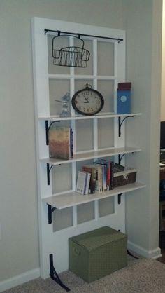 Old door repurposed shelves 26 Ideas Repurposed Furniture, Diy Furniture, Repurposed Doors, Luxury Furniture, Cheap Home Decor, Diy Home Decor, Art Decor, Old Door Projects, Diy Projects