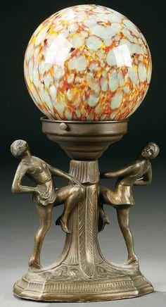 An Art Deco Radio Lamp.