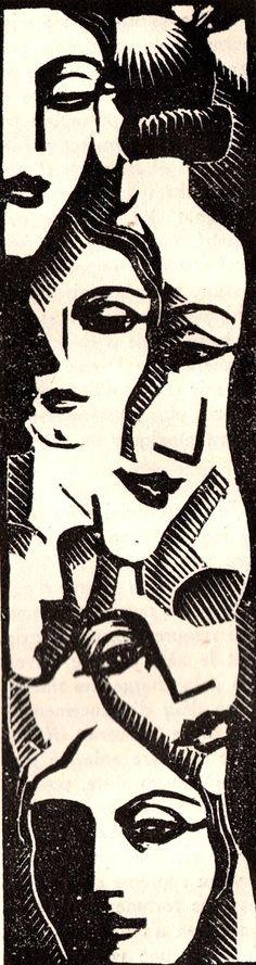 Paul Jacob-Hians: Clarisse Vernon - 1938 - by Paul Jacob-Hians - Author: Gabriel Chevallier - Illustration - http://www.verycoolphotoblog.com/2013/11/17/paul-jacob-hians-pour-clarisse-vernon-de-gabriel-chevalier-1938/