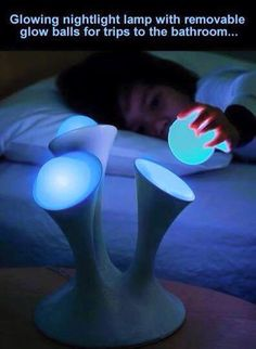 Buy Nightlight Lava Lamp High Quality For Creative Novelty Led Electric Induction Small Night Light/mushroom Wall Lamp Bedside ( Color adjustable) at Wish - Shopping Made Fun Toddler Alarm Clock, Take My Money, Ball Lights, Cool Inventions, Future Inventions, Lava Lamp, Chandeliers, Table Lamp, House Styles