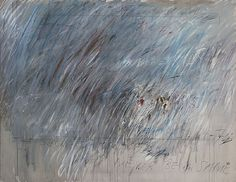 """Untitled,"" 1972, Cy Twombly. Oil paint, wax crayon, and lead pencil on canvas, 79-5/8 x 102-1/2"", The Eli and Edythe L. Broad Collection, Los Angeles."