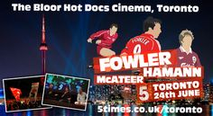 Title: TORONTO / An Evening with Fowler, Hamann and McAteer.  What really happened in the changing room at half time in Istanbul, hear from Jason what it was like to come so close to winning the league in 98, and find out inside gossip from club ambassador Robbie Fowler about how LFC are moving forward. You will also get the chance to ask them your questions in a live Q&A.  On June 24, 2015 at 7:00 pm - 10:00 pm.  Category: Classes / Courses.  Price: CAD 50.00 - CAD 115.00.
