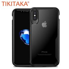 Phone Cases For iPhone X Fitted Cases Ultra thin Transparent Soft TPU & PC Silicone Cover Luxury Airbag Shockproof Armor Case