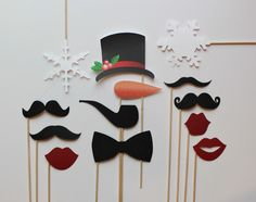 Holiday Photo Booth Props. Frosty the Snowman by LittleRetreats, $35.00