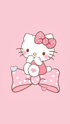 Hello Kitty Backgrounds, Hello Kitty Wallpaper, Pink Hello Kitty, Sanrio Hello Kitty, Friends Wallpaper, I Wallpaper, Kawaii Doll, Kawaii Cute, Go Theme