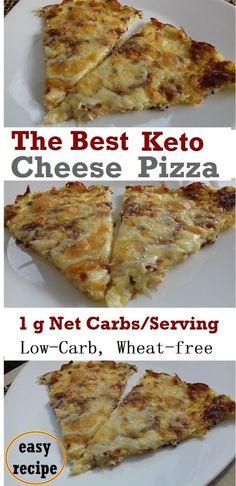 Crispy Keto Cheese Pizza - Recipe