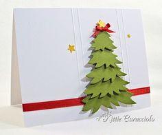 Clean, simple, & fast - created by Kittie C.-  Elizabeth Craft 5 Part Tree die