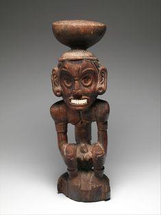 Deity Figure (Zemí), Wood (Guaiacum sp.), shell, Taíno