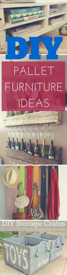 27 DIY Pallet Furniture Ideas - For the beginner DIY novice, to those that like a challenge. Plenty of clever DIY furniture ideas to go around. via http://www.thesawguy.com/diy-pallet-furniture-ideas/