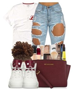 """""""haven't been on for a while"""" by ballislife ❤ liked on Polyvore featuring MICHAEL Michael Kors and NIKE"""