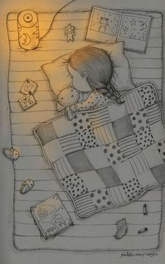 New Art Painting Illustration Sweets Ideas Art Drawings Sketches Simple, Girl Drawing Sketches, Doodle Art Drawing, Girly Drawings, Pencil Art Drawings, Easy Drawings, Pencil Sketch Drawing, Drawing Faces, Manga Drawing