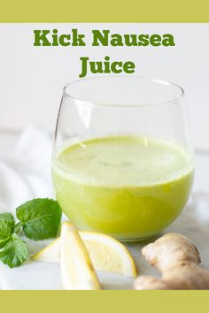 What to drink for nausea can be a challenge when y. What to drink for nausea can be a challenge when you are having chemo or are pregnant, but there is natural help with this healthy Kick Nausea Juice.
