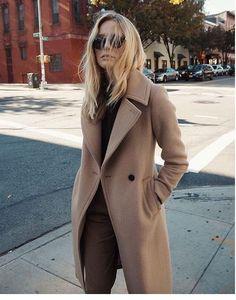 camel coat + street style @emcik