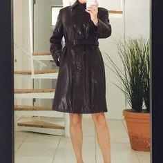 PRADA women's leather coat PRADA chocolate brown leather coat. Excellent condition Prada Jackets & Coats