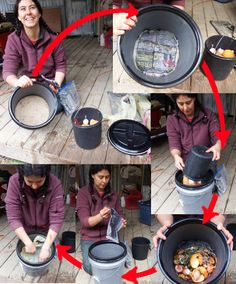 Gardening Compost Lactobacillus bokashi - Interesting because she uses newspaper soaked in instead of inoculating a food source to sprinkle into the compost. Aquaponics Greenhouse, Aquaponics Fish, Aquaponics System, Modern Japanese Garden, Natural Farming, Garden Compost, Herb Garden, Permaculture Design, Worm Farm