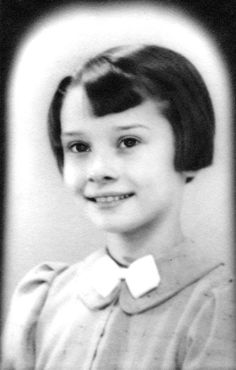 Young Audrey Hepburn c. 1938 - Attended Arnhem Conservatory in the Netherlands between 1949- 1945 where she also began ballet training.