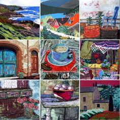fabric art felted murals - Google Search