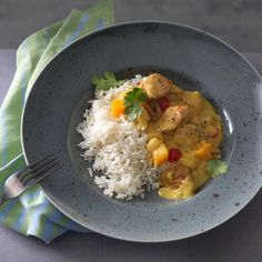Sauce Au Curry, Grains, Eggs, Chicken, Meat, Cooking, Breakfast, Ethnic Recipes, Food