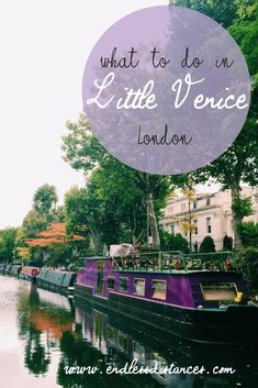 Little Venice, West London, not far from Paddington Station. I'm sure you'll find a lovely little cafe there.