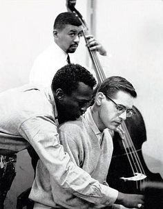 Photos of musicians — Miles Davis, Bill Evans and Paul Chambers