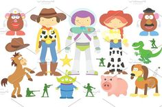 Toy Story Clipart Set by Julia_Sunrain on @creativemarket
