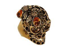 Alexander McQueen Bee Skull Ring