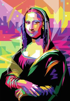 Mona Lisa By Leonardo Da Vinci Transform To Wpap Pop Art Art Print by Ahmad Nusyirwan. All prints are professionally printed, packaged, and shipped within 3 – 4 business days. Choose from multiple sizes and hundreds of frame and mat options. Portraits Pop Art, Arte Pink Floyd, Art Du Monde, Mona Lisa Parody, Grafik Design, Art Plastique, Oeuvre D'art, Modern Art, Art Drawings