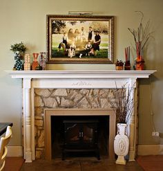 Mantel  Decorations : IDEAS &  INSPIRATIONS : Step by Step Mantle Decorating