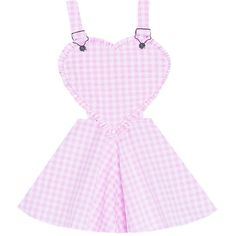 Sweet Heart Overalls Dress Bonne Chance Collections (479.995 IDR) ❤ liked on Polyvore featuring dresses, skirts, vintage style dresses, sweet heart dress, flared skirt, vintage day dress e sweetheart dress