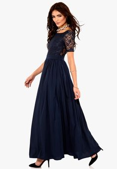 Make Way Elenora Dress Midnight Blue Bubbleroom.se