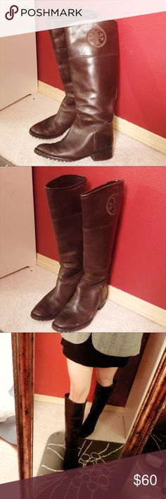 4984e6b4ad6 Tory Burch Riding boots Brown Size 5 fits 5.5 Preowned Riding Boots from Tory  Burch Love