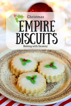 Growing up these Empire Biscuits were a treat every Christmas and my mother made them for afternoon tea parties.