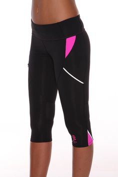3/4 Infinity Sport Tight - Black/Pink :: Blockout Clothing - womens fashion, sporting, gym, dresses, skirts and much more...