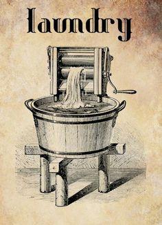 antique washing machine laundry clip art by DigitalGraphicsShop Vintage Clipart, Vintage Labels, Vintage Signs, Vintage Images, Antique Washing Machine, Room Deco, Laundry Room Signs, Laundry Nook, Laundry Room Art
