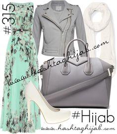 Hashtag Hijab Outfit #315 van hashtaghijab met leather handbagsEliza J long maxi dress€120-houseoffraser.co.ukIRO slim fit leather jacket€1.210-donnaida.comFaith white pumps€56-asos.comGivenchy leather handbag€1.790-forwardforward.comSheer scarve€66-clubmonaco.ca