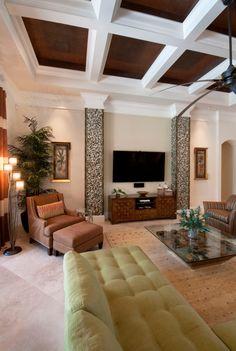 Transitional Family Room - Raymond Design Studios - Naples, Florida