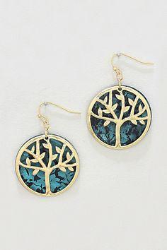 Patina Tree of Life Earrings