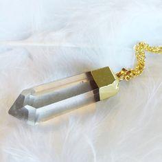 Yara - Quartz Long Necklace – Druzy Dreams
