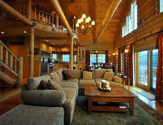 log cabin living room - Log Cabin Living Room