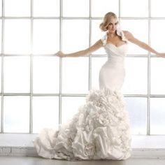Beautiful Simone Carvalli wedding dresses.