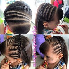 Cute little girl braided hairstyles Niñas Natural Hairstyles For Kids, Fancy Hairstyles, Little Girl Hairstyles, Braided Hairstyles, Natural Hair Styles, Girl Hair Dos, Baby Girl Hair, Hair Due, Girls Braids
