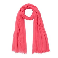 Plain Basket Weave, Pink Online #scarf #johnlewis