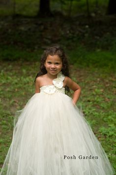 Addisyn dress Ivory tulle ivory crochet top with by PoshGarden, $42.95