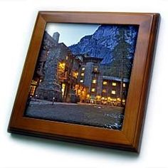 """Ahwahnee Lodge, Yosemite NP, California, USA - US05 CHA0115 - Chuck Haney - 8x8 Framed Tile by 3dRose. $22.99. Cherry Finish. Keyhole in the back of frame allows for easy hanging.. Inset high gloss 6"""" x 6"""" ceramic tile.. Solid wood frame. Dimensions: 8"""" H x 8"""" W x 1/2"""" D. Ahwahnee Lodge, Yosemite NP, California, USA - US05 CHA0115 - Chuck Haney Framed Tile is 8"""" x 8"""" with a 6"""" x 6"""" high gloss inset ceramic tile, surrounded by a solid wood frame with pre-drilled keyhole for easy ..."""