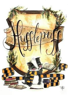 Print Hufflepuff Pride - Hogwarts Art - Fandom art print - Harry Potter Painting- Book lovers - Gifts for Booknerds by TJLubrano on Etsy Harry Potter Kunst, Theme Harry Potter, Cute Harry Potter, Harry Potter Drawings, Harry Potter Universal, Harry Potter Fandom, Harry Potter World, Estilo Harry Potter, Mundo Harry Potter