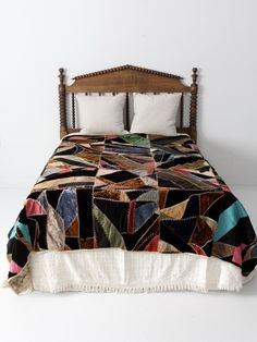 antique velvet crazy quilt