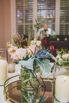 I spy Pantone colors for 2016!! Loving the rich textures of the florals juxtaposed with the clean, sleek metals and glass surfaces. Well done, Cedarwood Weddings!