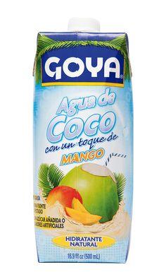 El Agua de Coco GOYA con Mango es baja en calorías y súper hidratante, una manera de obtener el potasio y otros nutrientes que necesitas para satisfacer tu sed y mantener feliz a tu cuerpo.