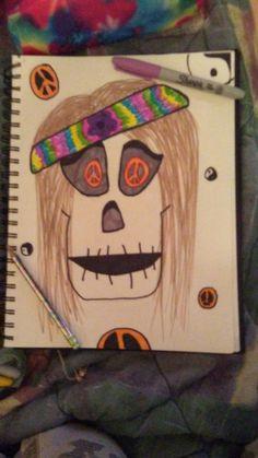 Hippie Skull 🎨🎸🎵 Skull, Artwork, Work Of Art, Skulls
