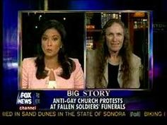 I am not a fan of Fox News but I do happen to enjoy watching Shirley Phelps-Roper get torn into by Julie Banderas. It is a must watch!    Visit www.GayRightsWatch.com for more.